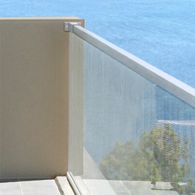 Wall Flange Fixing on Glass Channel Balustrade