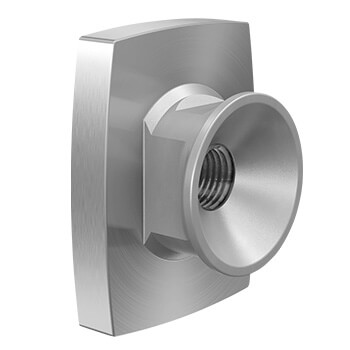 Wall Mounting Adapter - Stainless Steel