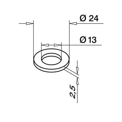 M12 Washer - Dimensions