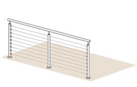 Wire Balustrade - 4 Metre