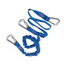 Wichard Safety Lanyard - Stainless Steel Carbine Hooks - Elastic/Flat