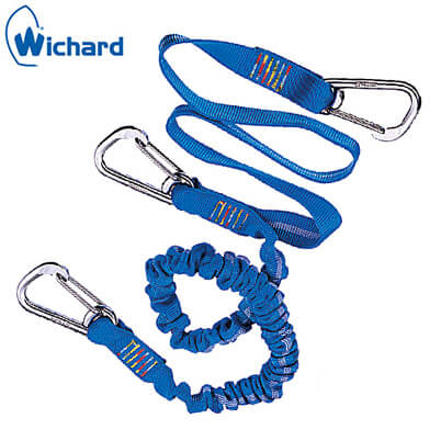 Safety Lanyard - Carbine Safety Hooks - Flat/Elastic Webbing