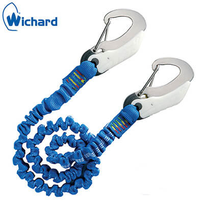 Safety Lanyard - Double Action Safety Hooks - Elastic Webbing