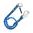 Wichard Safety Lanyard - Quick Opening Snap Shackle - Double Action Safety Hook - Elastic Webbing - 316 Grade Stainless Steel - Polyamide Webbing