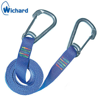 Safety Lanyard - Carbine Safety Hooks - Flat Webbing