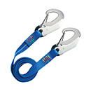 Wichard Safety Lanyard - Two Double Action Hooks - Flat Webbing