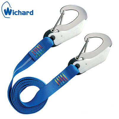 Safety Lanyard - Double Action Safety Hooks - Flat Webbing