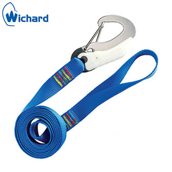Wichard Safety Lanyard - Double Action Safety Hook - Flat Webbing