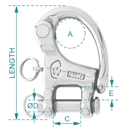 Wichard Snap Shackle Clevis Pin Diagram