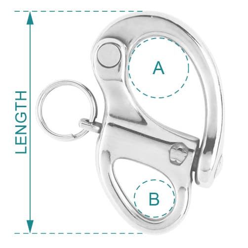 Wichard Snap Shackle Fixed Eye Diagram