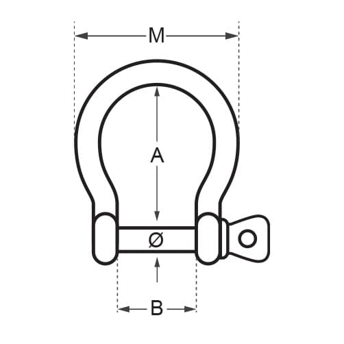 Wichard High Resistance - Bow Shackle Diagram
