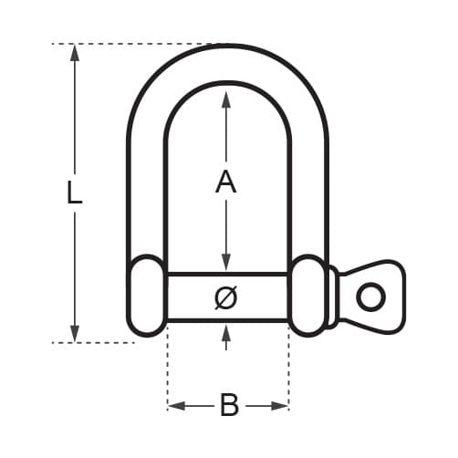Wichard High Resistance - D Shackle Diagram