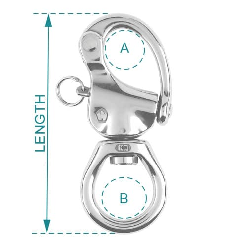Wichard Snap Shackle Large Bail Diagram