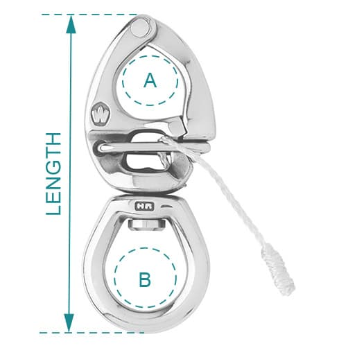 Wichard Quick Release Snap Shackle with Large Bail - Diagram