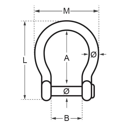 Wichard Allen Head Pin Bow Shackle Diagram