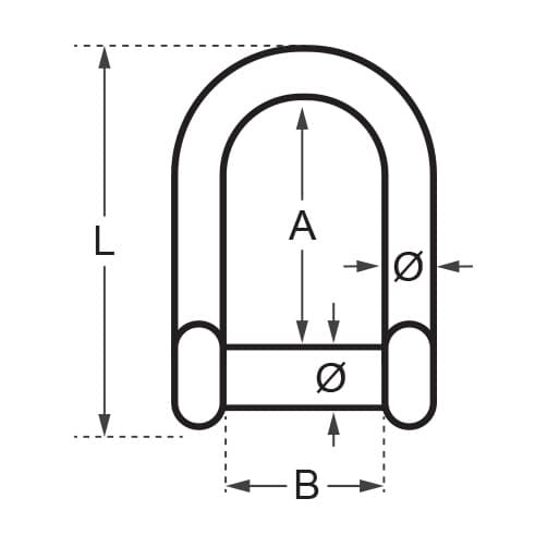 Wichard Allen Head Pin D Shackle Diagram