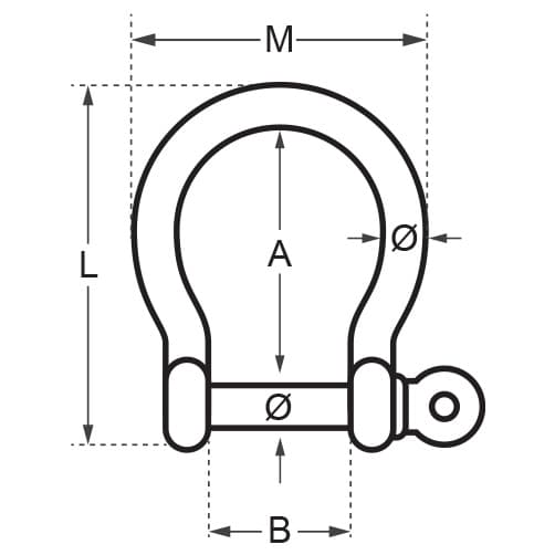 Wichard Self Locking Bow Shackle Diagram