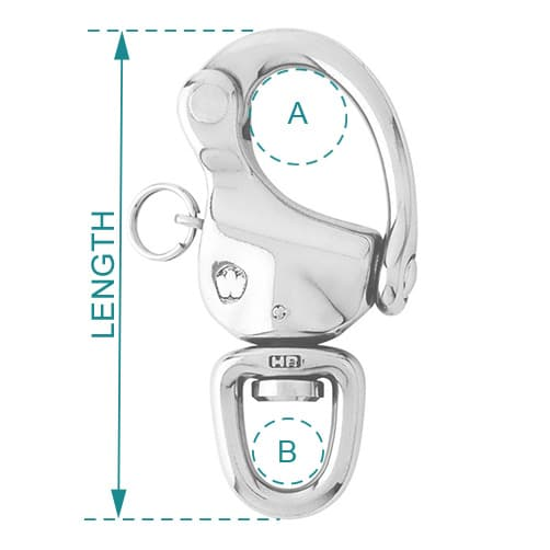 Wichard Snap Shackle Swivel Eye Diagram