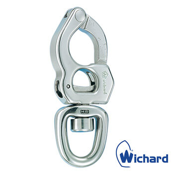 Wichard Titanium Trigger Snap Shackle with Swivel Eye