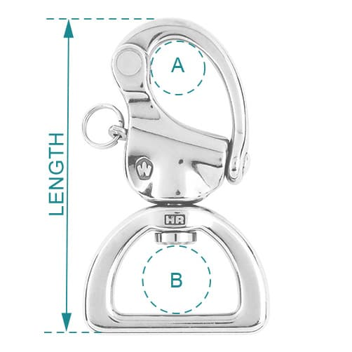 Wichard Snap Shackle Webbing Swivel Diagram