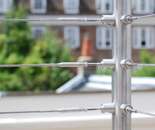 Wire Balustrade - DIY - Tube Mount