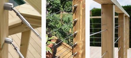Wire Balustrade Angles and through Post Mount