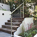 Wire Balustrade - Split Level Garden