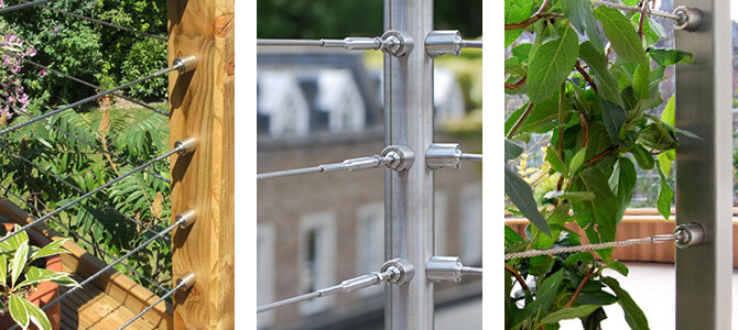 Wire Balustrade Mounting Options