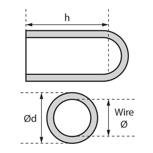 Plastic Wire End Cap - Dimensions