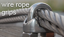 wire rope grips from 2mm up to 22mm