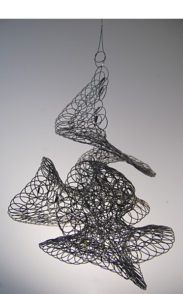 Stainless Steel Wire 3D Sculpture by Geraldine Jones