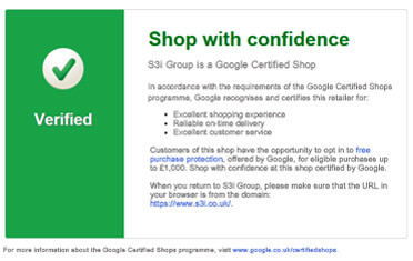 S3i Group Awarded Google Certified Shops Validation