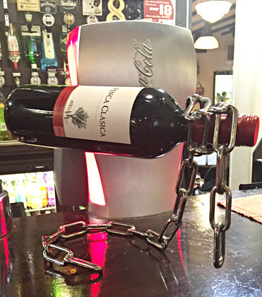 Floating Chain Wine Bottle Stand