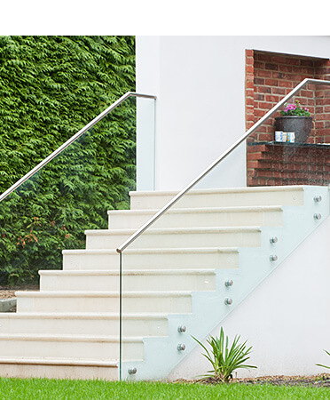 Stairs with Glass Adapters