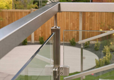 Square Line Stainless Steel and Glass Balustrade