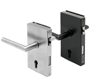Glass Door Locks with Lever Handles