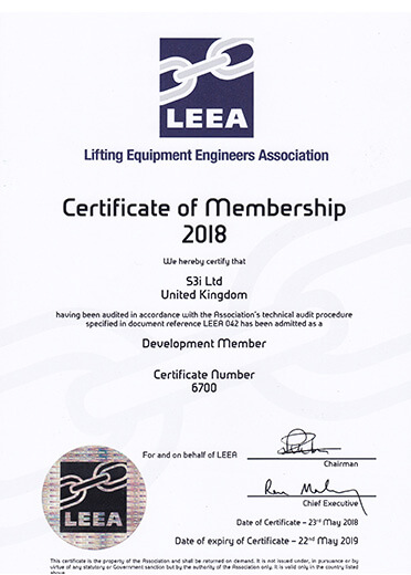 LEEA Certificate of Membership