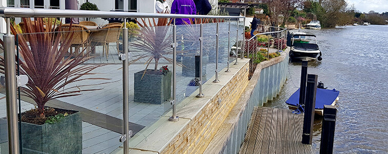 Riverside Glass and Stainless Steel Wire Balustrade