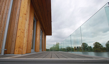 Fascia Mounted Glass Balustrade Preserving The View