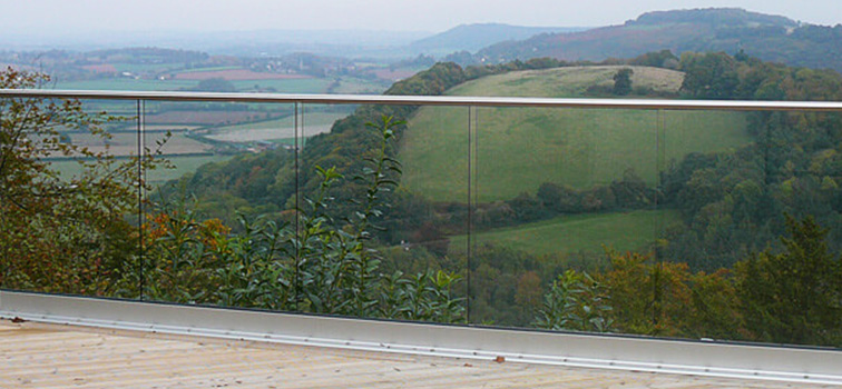 Frameless Glass Channel Balustrade - Wye Valley