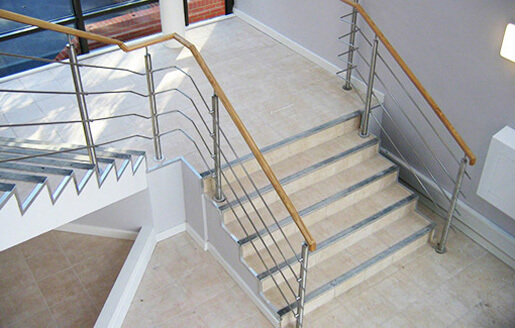 Lacquered Beech Handrail Installation