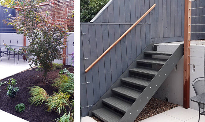 Wire Balustrade and Trellis Installation by Norland Landscapes