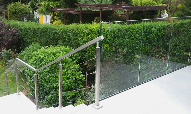 Glass Channel and Post Balustrade Combination