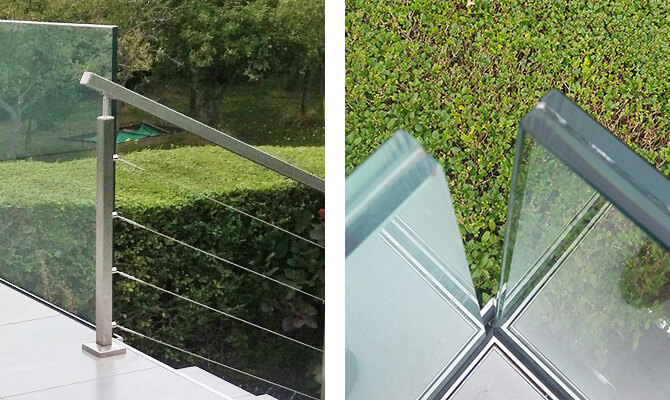 Wire Balustrade and Glass Channel Installation