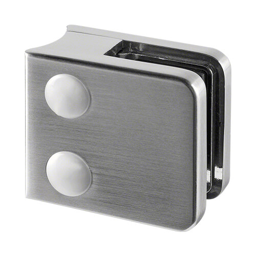 Zinc Glass Clamp - Square - 6mm to 10mm Glass - Tube Mount